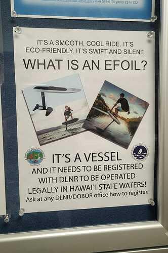 registering an eFoil